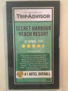 TripAdvisor Award SECRET HARBOUR RESORT Best Overall in Caribbean 2